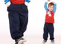 Детские утепленные спортивные штаны (р.86-128)
