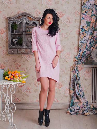 8646a9438f60d26 Ультрамодное молодежное платье с ассиметричным низом украшено вышивкой от  оптово-розничного магазина одежды