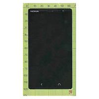 Дисплей (экран) Nokia Nokia X2 Dual Sim с сенсором (тачскрином) и рамкой черный