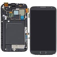Дисплей (экран) Samsung N7102 Galaxy Note 2 с сенсором (тачскрином) и рамкой серый