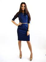Платье темно синее Графиня