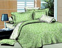 Двуспальный с евро простынью комплект постельного белья Ажур Салатовый
