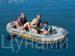 Четырехместная надувная лодка 328х145x48см Intex 68376