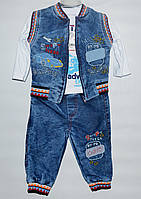 Костюм для мальчика 1-3 года Aynur Jeans United тройка