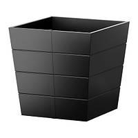 """IKEA """"ГРЭСЕТ"""" Горшок цветочный, для сада, черный, 30x30 см"""