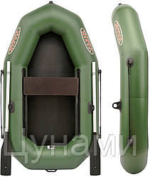 Надувная лодка гребная V190D(PS) с передвижными сиденьями (дешевые, качественные лодки)