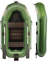 Двухместная надувная лодка Вулкан V230LST c навесным транцем + мягкое сиденье в подарок!