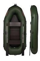 Надувная двухместная лодка ПВХ рыбацкая V260LS с поворотными уключинами и реечной сланью