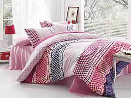 Комплект постельного белья двуспальный евро Fashion Majoli B08