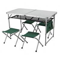 Складной комплект стол и стулья для кемпинга 4+1