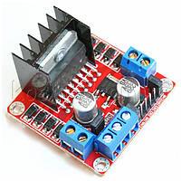 L298N драйвер двигателя 5В, кнопка, модуль Arduino