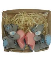 Набор натурального мыла Влюбленные мишки