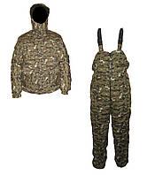 Камуфляжный теплый костюм бушлат с комбинезоном