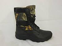 Берцы на шнурке (армейские берцы, военная обувь, кожаные берцы)
