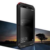 Чехол противоударный Love Mei Gorilla Glass для Huawei Mate 8 черный