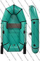 Надуваная полтораместная гребная лодка Гламур 210см