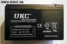 Ємнісний свинцево-кислотний (GEL) акумулятор UKC WST 12V-12Ah RC201502