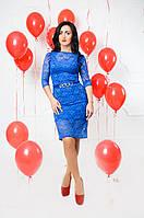 Нарядное синее платье, фото 1