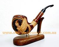 Курительная трубка большая с резьбой «Орел», оригинальный подарок