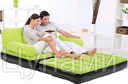 Надувной диван-трансформер Intex (Зелёный)