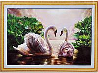Набор для вышивки картины Лебеди 75х53см