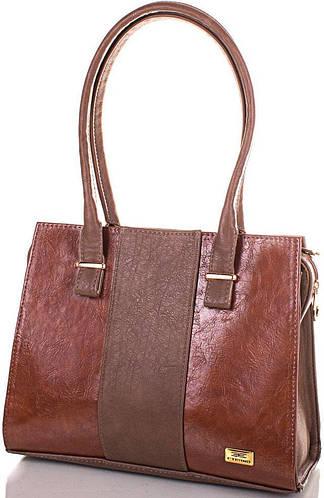 Легкая женская сумка из качественной искусственной кожи Eterno ETMS35245-10-1 коричневый