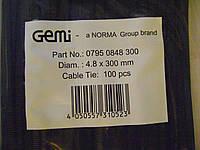 Хомут стяжка  4.8-300 мм NORMA нейлон 100 шт упаковка