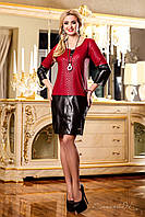 Платье женское из жаккарда (красное) M