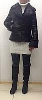 Кожаная женская куртка на подстежке с мехами, фото 1
