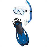 Набор ALLEGRA PIRATE p.XL (маска + трубка + ласты) для дайвинга(синий)