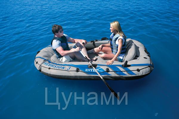 Гребная лодка INTEX  68319 NP (для отдыха на больших открытых водоёмах) - Хороший улов в Харькове