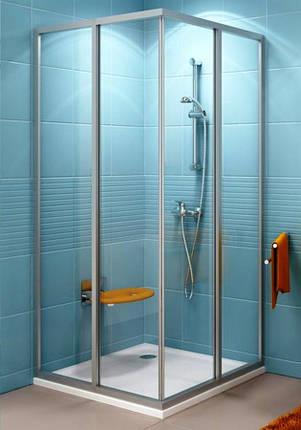 Душевые двери Ravak   ASDP3-  130  Белый  TRANSPARENT, фото 2