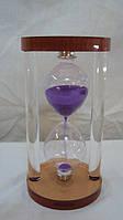 Песочные часы стеклянные размер 15*8