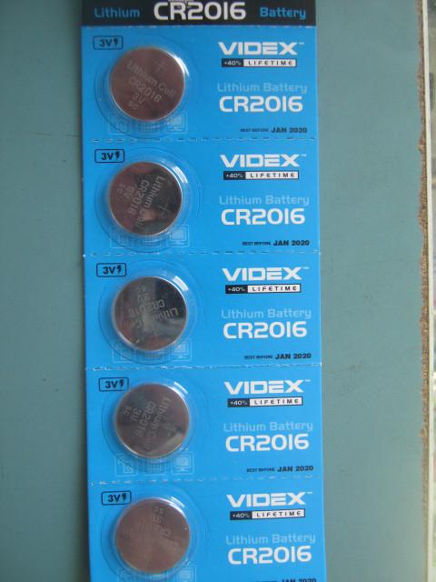 Батарейка литиевая CR2016  5pcs BLISTER CARD