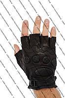 Перчатки кожаные без пальцев для велоспорта, мотоперчатки