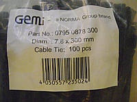Хомут стяжка 7.8-300 мм NORMA нейлон 100 шт в упаковке