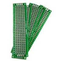 PCB 2х8 см двухсторонняя печатная плата