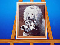 Картина на холсте по номерам Пудель