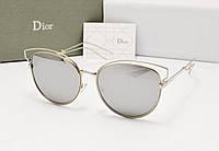 Женские солнцезащитные очки Dior Sideral 2 зеркальная линза