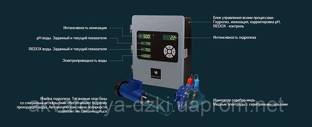 Система дезінфекції води Aquascenic HD2A BE KBper. Для басейнів до 110м3