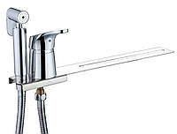 Смеситель с гигиеническим душем на унитаз 78053 Хром