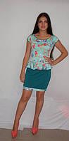 Платье баска короткое