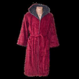 Халат махровый Misse красный (с капюшоном) 1407
