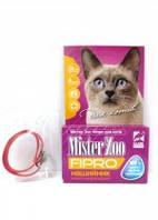 Ошейник Мистер Зоо фипро для котов 35 см (красный)