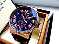 Красивые кварцевые мужские часы Ulysse Nardin. Стильные мужские часы. Недорогие мужские часы. Код: КТМ225