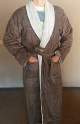 Халат махровый Misse коричневый (без капюшона) 1407-2