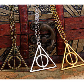 "Цепочка с кулоном ""Deathly Hallows"" (серебристый), фото 2"
