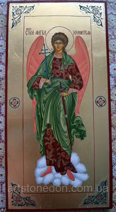 Заказать писаную икону икона Ангела Хранителя 48см*24см