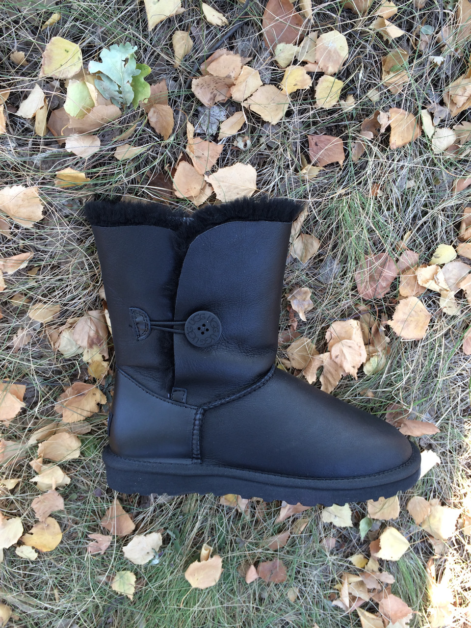 ЖЕНСКИЕ УГГИ UGG BAILEY BUTTON LEATHER (36,37,38,40)
