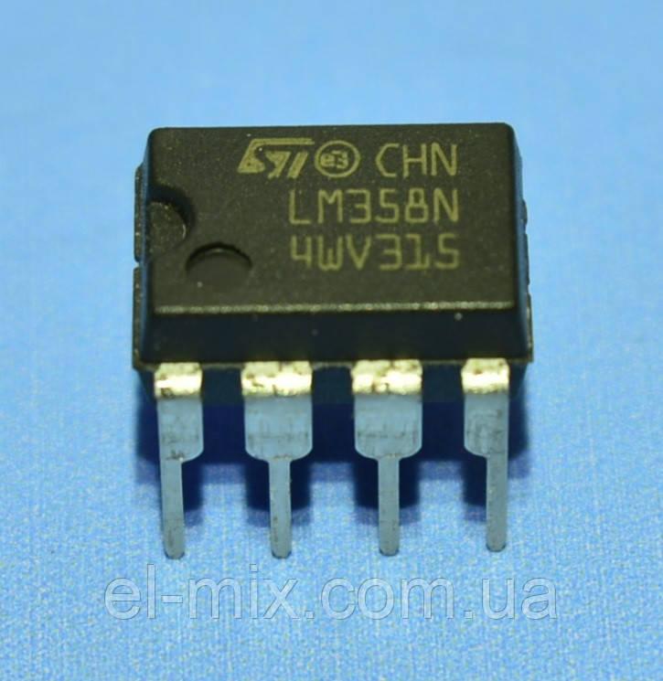 Микросхема LM358N  dip-8  STM